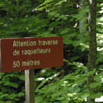 Attention, traverse de raquetteurs (... à neige)